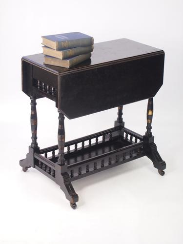 Small Aesthetic Movement Drop Leaf Table c.1890 (1 of 1)