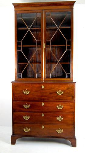Stunning Georgian Mahogany Secretaire Bookcase c.1820 (1 of 1)