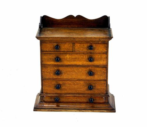 Fabulous Quality Miniature Oak Chest c.1860 (1 of 1)