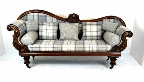 Stunning Mahogany Double Ended Sofa c.1870 (1 of 1)