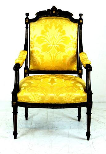 Painted French Open Armchair c.1900 (1 of 1)