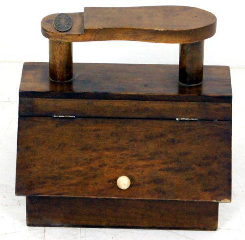 Very Good Unusual Shoe Shine Box c.1920 (1 of 1)