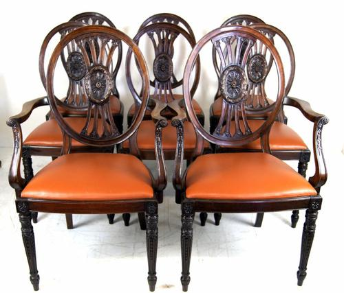Good Set of 8 (6+2) Edwardian Mahogany Dining Chairs (1 of 1)