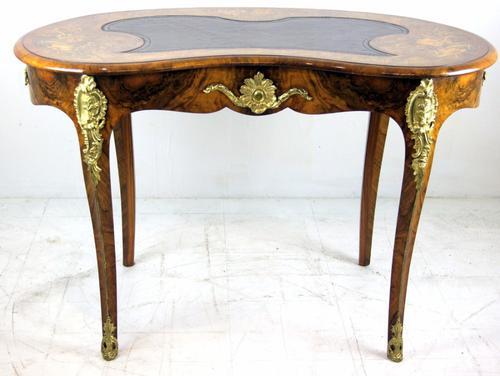 Superb Victorian Burr Walnut Ormolu Mounted Desk c.1860 (1 of 1)