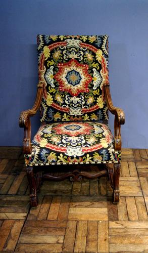 Walnut Baroque Style Chair c.1910 (1 of 1)