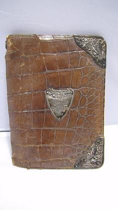 Leather Wallet with Silver Mounts 1899 (1 of 1)