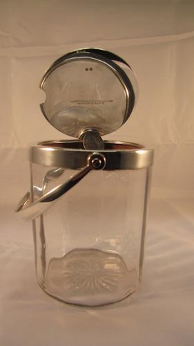 Goldsmiths & Silversmiths Co Silver Conserve Jam Jar Pot (1 of 1)