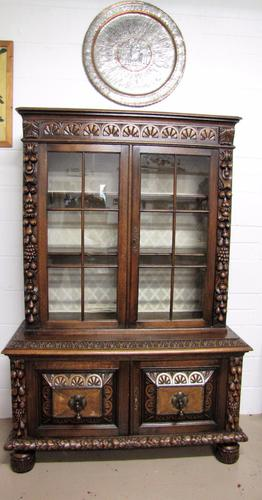 Antique French  Carved Oak Bookcase C.1900 (1 of 1)