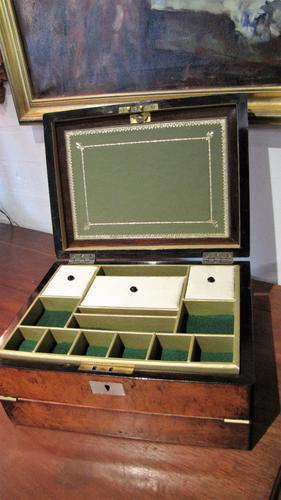 Victorian Ladies Travelling Writing Jewellery Box (1 of 1)