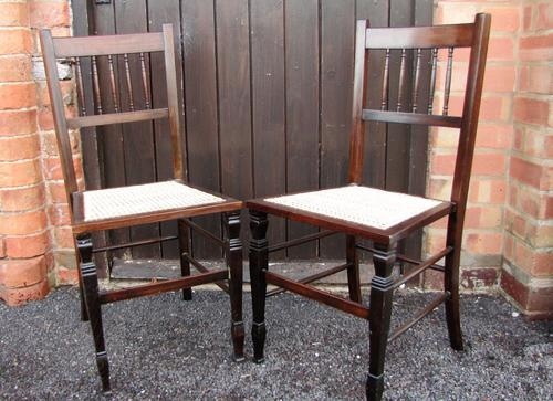 Quality Pair of Cane Seated Bedroom / Side Chairs (1 of 1)