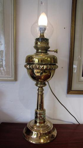 Converted Victorian Brass Oil Lamp (1 of 1)