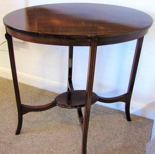 Edwardian Oval Inlaid Table (1 of 1)