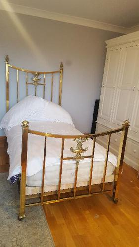 Superb Quality French Brass Single Bed c.1900 (1 of 1)
