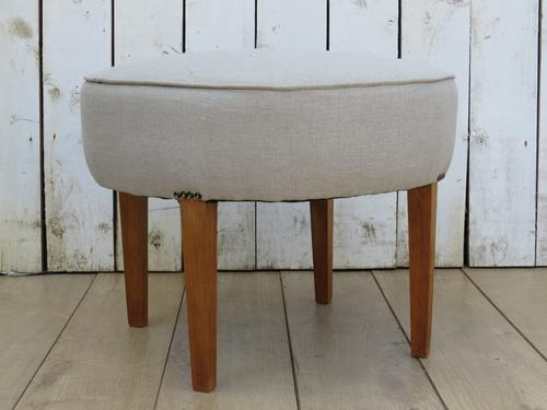 Art Deco French Linen Stool (1 of 6)