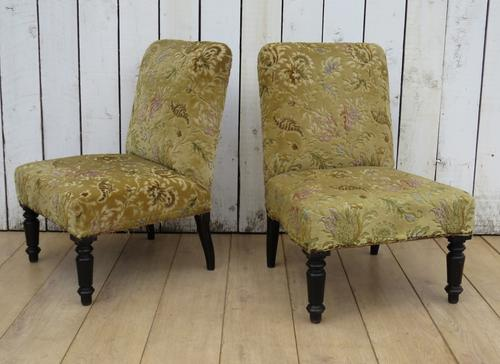 Pair of Antique Napoleon III Chairs for re-upholstery (1 of 9)