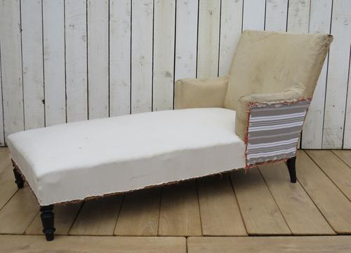 Antique Napoleon III Day Bed Chaise for re-upholstery (1 of 7)