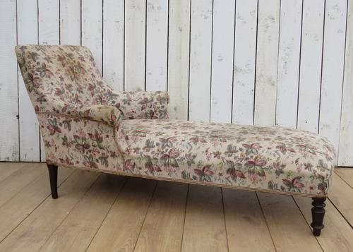 Antique Napoleon III Day Bed Chaise Longue (1 of 7)