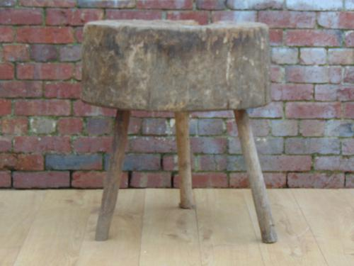 Antique Chopping Block / Side Table (1 of 1)