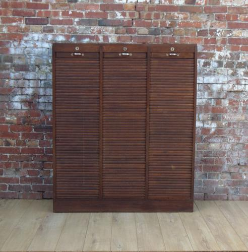 Triple Tambour Front Cabinet / Cupboard (1 of 1)