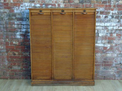 Triple Tambour Front Cabinet (1 of 1)