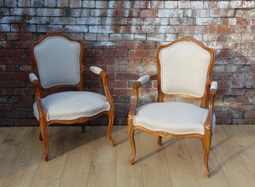 Pair of Re-upholstered Fauteuils (1 of 1)
