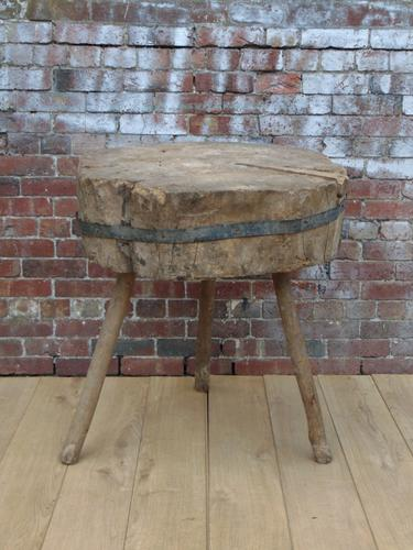 19th Century Chopping Block, Side Table (1 of 9)