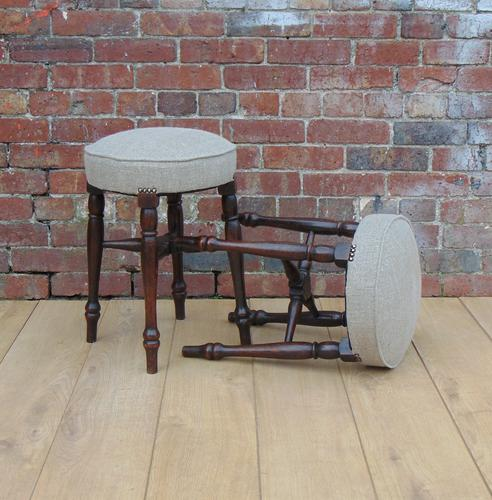 Pair of Reupholstered Bar Stools c.1920 (1 of 1)