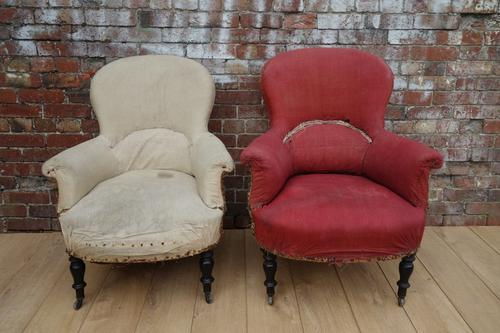 Pair 19th Century French Armchairs for Reupholstery (1 of 1)