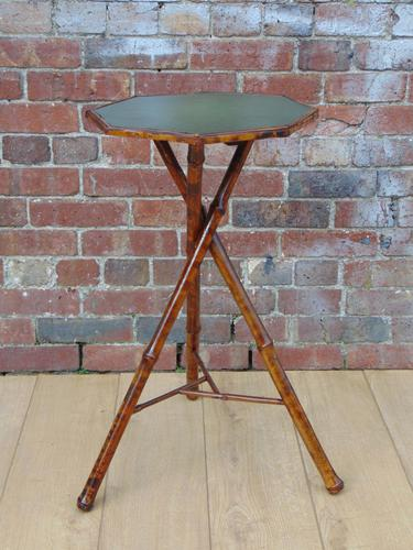 Victorian Re-Leathered Bamboo Side Table (1 of 1)