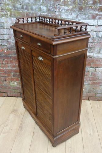 Art Deco Tambour Front Haberdashery Cabinet (1 of 1)