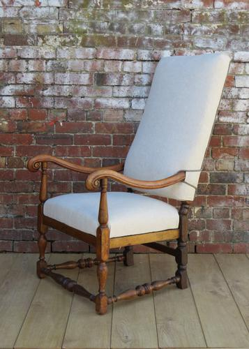 Re-Upholstered Walnut Armchair c.1910 (1 of 1)