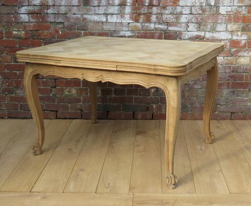 Bleached Oak Draw Leaf Dining Table (1 of 1)