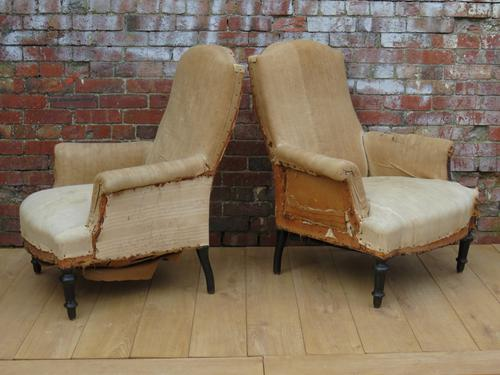 Pair of 19th Century French Armchairs for re-upholstery (1 of 1)