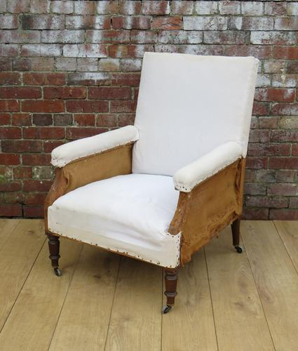 Napoleon III Library Armchair for re-upholstery (1 of 1)