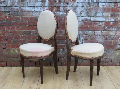 Pair of French Boudoir Chairs for re-upholstery (1 of 1)