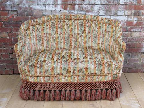 Antique French Love Seat Sofa (1 of 1)