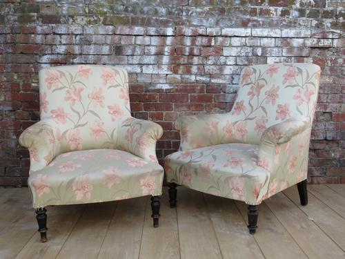 Pair of Antique French Armchairs for reupholstery (1 of 1)