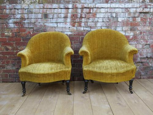 Pair of Antique French Armchairs for re-upholstery (1 of 1)