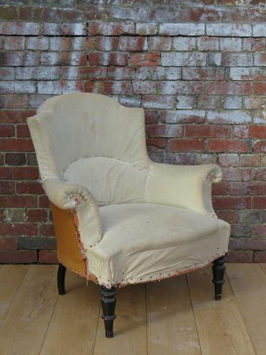 Antique French Armchair for re-upholstery (1 of 1)