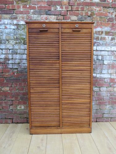Industrial Tambour Front Haberdashery Cabinet (1 of 1)