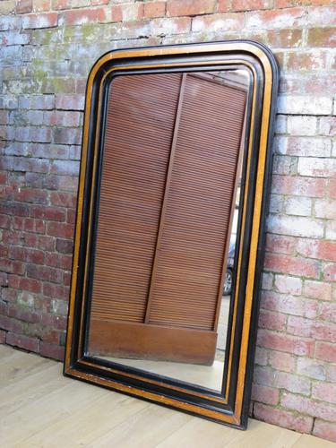 Antique French Ebonised Wall Mirror (1 of 1)