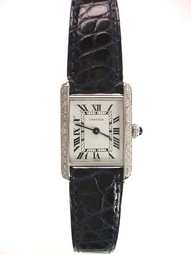Cartier Diamond Tank Watch (1 of 1)