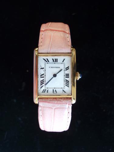 Cartier Tank Watch Pink (1 of 1)