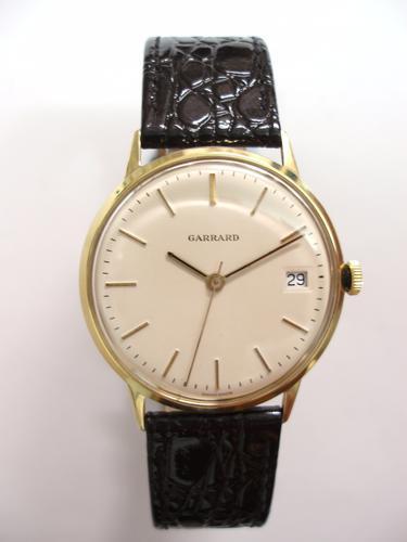 Garrard 9ct Gold Gents Wristwatch (1 of 1)