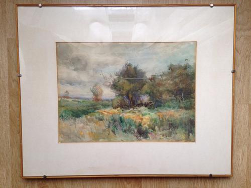 Original Watercolor Landscape Signed by Listed Artist Claude HAYES (Free Shipping to UK) (1 of 1)