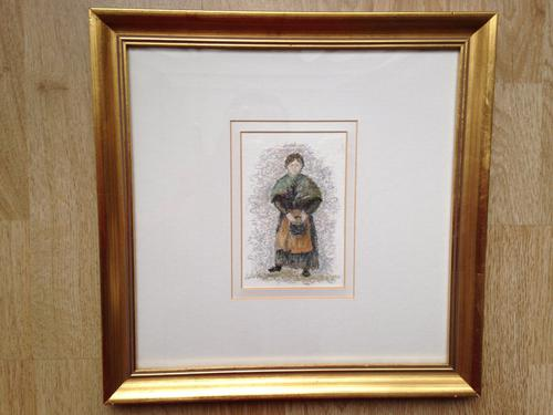Original pastel painting signed by noted artist Lelia Pissarro 'Madame Heude' (1 of 1)