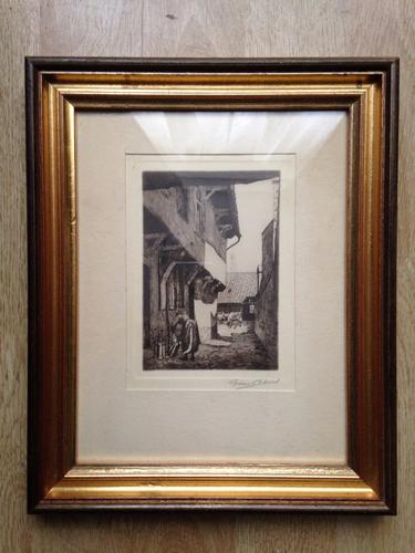Original Etching Graham Clilverd (1883-1959) '16th Cent Spanish Houses In Aire' (1 of 1)