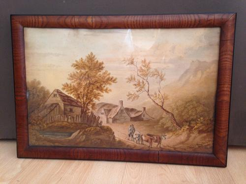 Antique Original Watercolor Painting Owned by Lady Georgiana Russell 1822 (1 of 1)