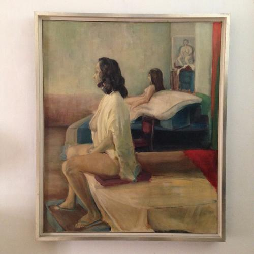 Original Oil Painting of Female Nudes Signed 'Three Women' by J.Costello 1964 (1 of 1)