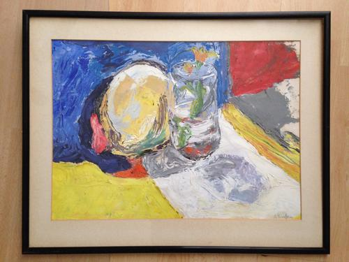 Original Oil Painting Still Life by A.Scrutton circa End of 20th Century (1 of 1)